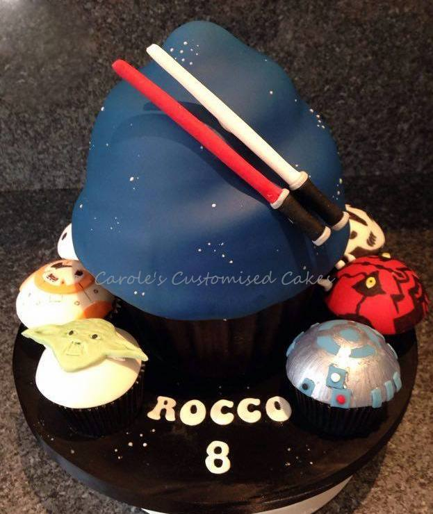 In a galaxy far far away cake