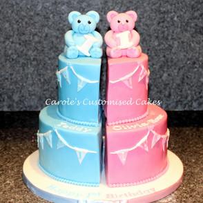Twins teddy cake.JPG