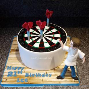 Dartboard 21st cake