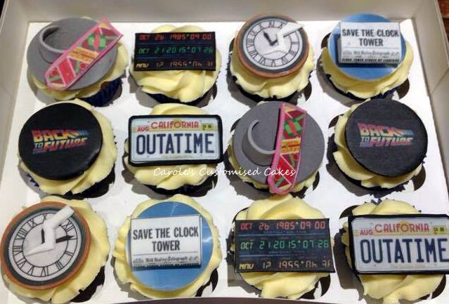 Back to the Future cupcakes