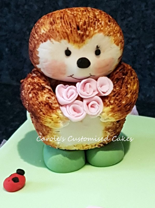 Hedgehog cake topper