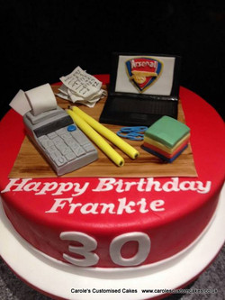Accountant's personalised cake