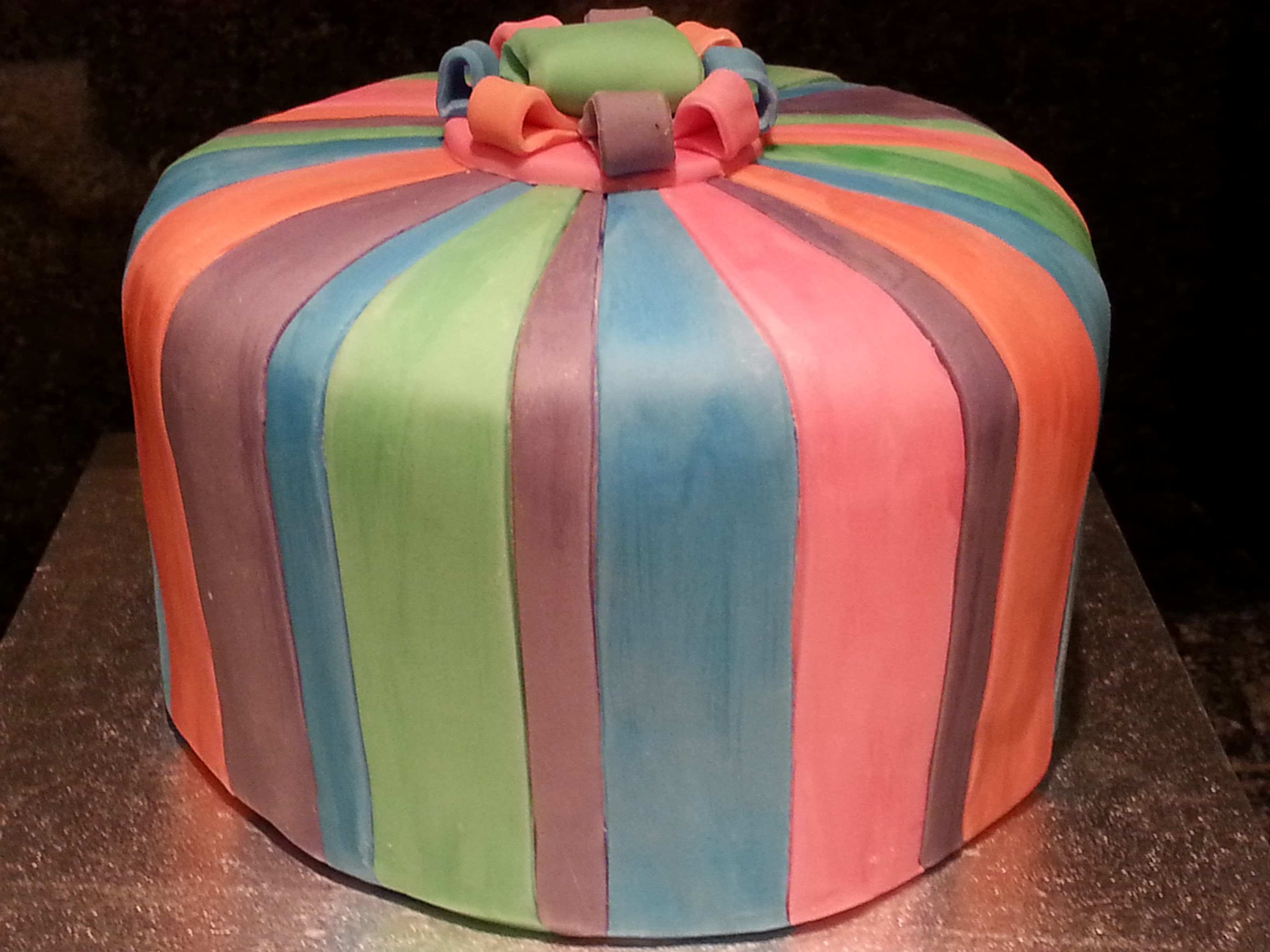 Stripes cake