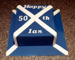 Scottish flag cake