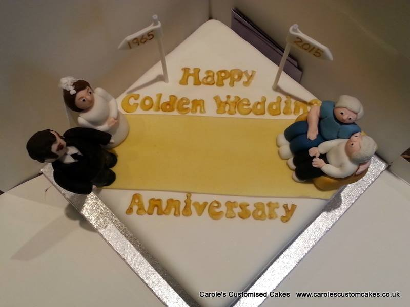 Golden wedding anniversary cake 2