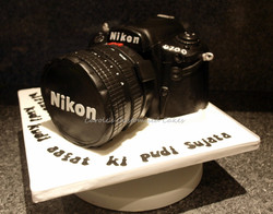 Nikon camera cake