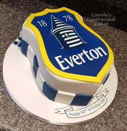 Everton FC badge cake
