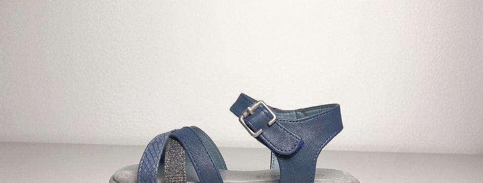 Indigo Sandale mit Klettverschluss
