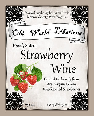 Greedy Sisters - Strawberry Wine - Front