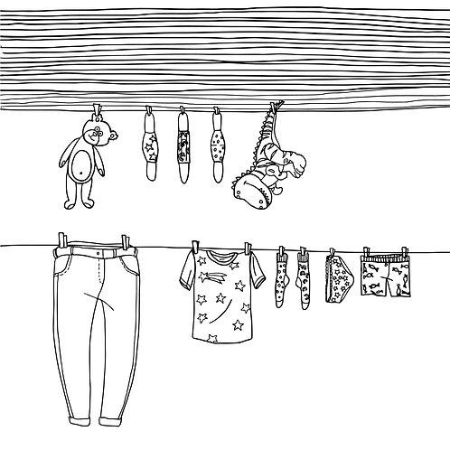 Karantén ruhatár kifestő