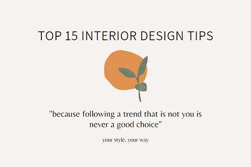FREE Top 15 Tips Interior Design