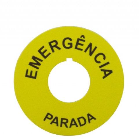 PLAQUETA DE EMERGÊNCIA 22MM