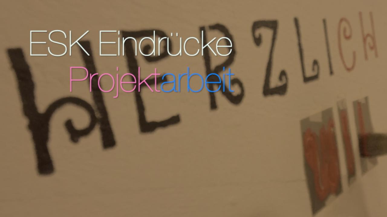 Einblicke in die Projektarbeit an der ESK in Trainings- und Freizeitkursen: Die Aufnahmen stammen aus 2018/2019
