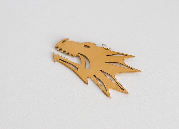 Golden color Salamanders pendant