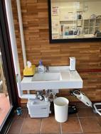 手洗い場を設置