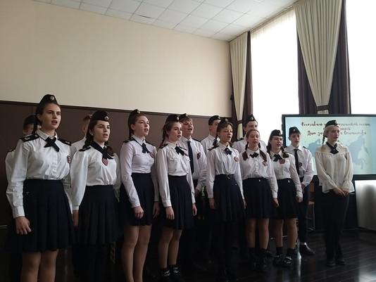 21 февраля в гимназии прошел фестиваль патриотической песни