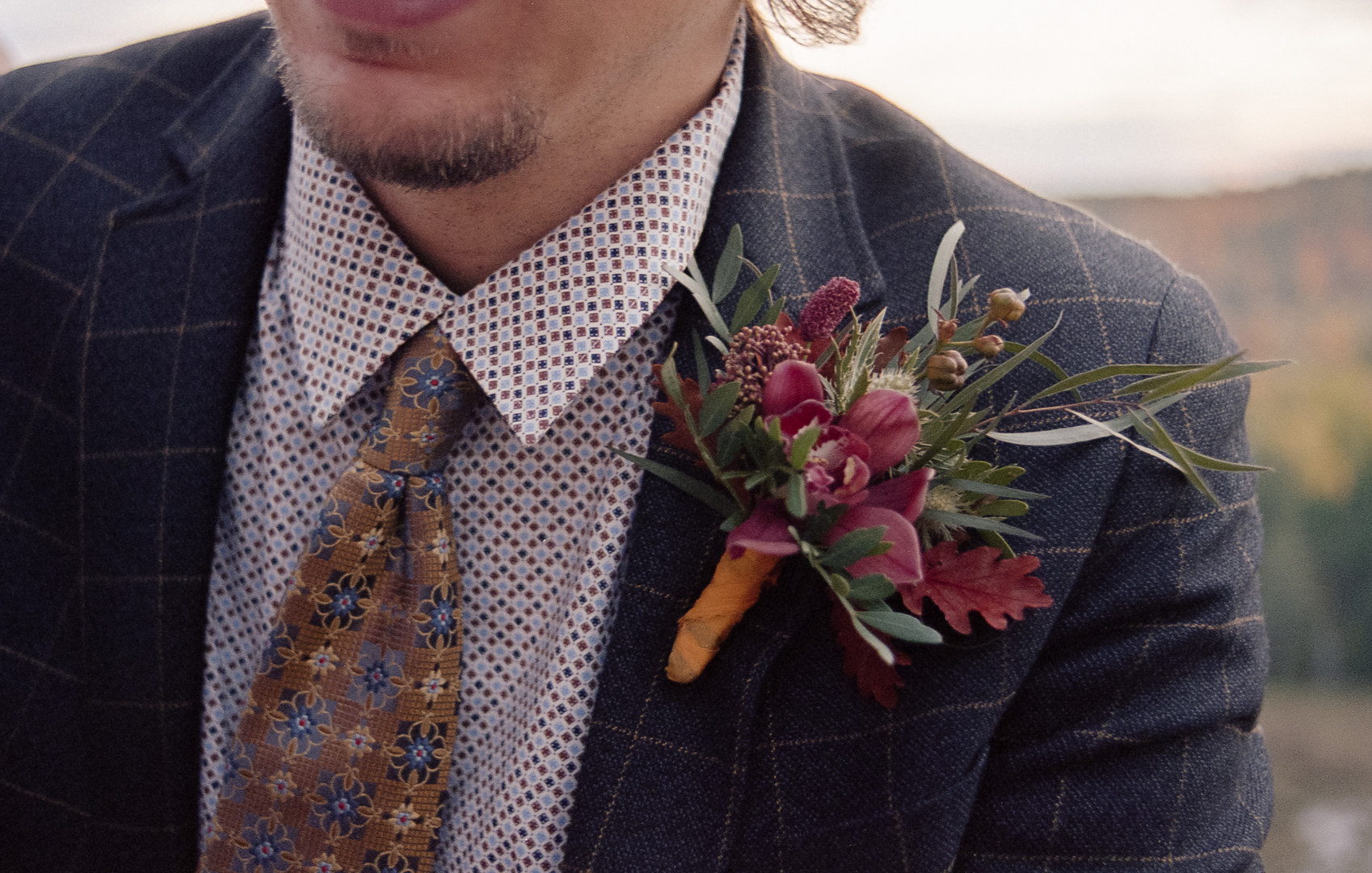 Groom with boutonierre