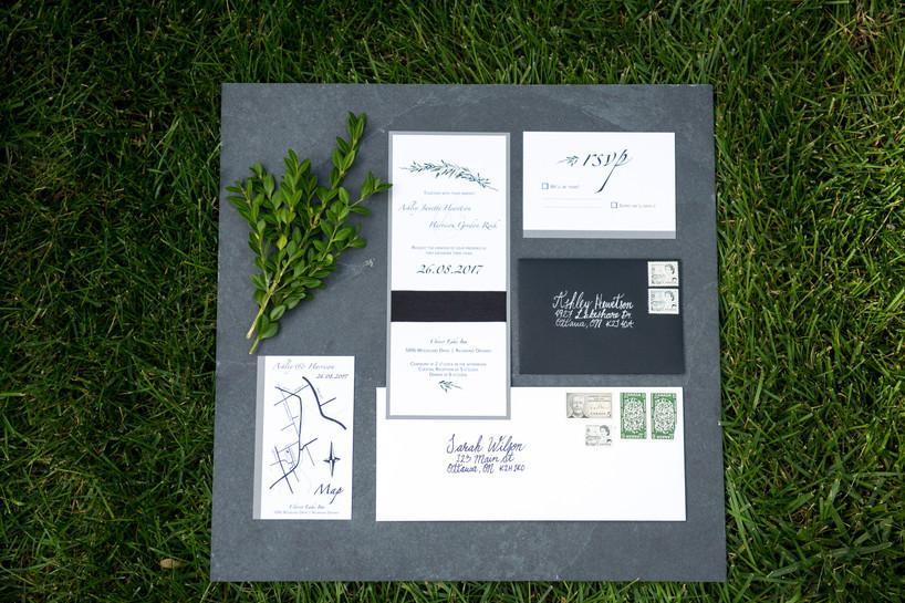 Wedding invitation with map
