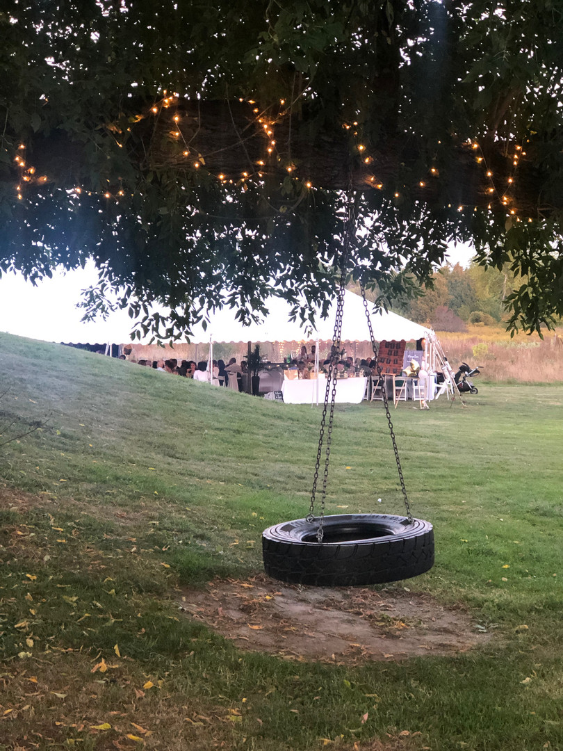 Tent wedding at the farm