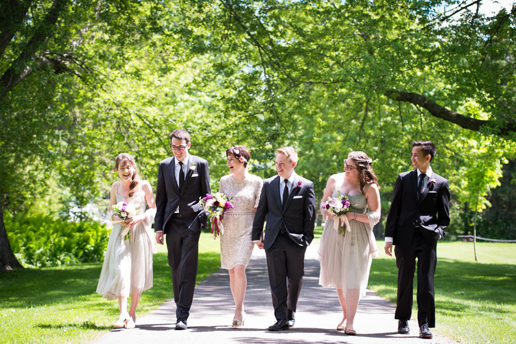 Wedding Party in the spring