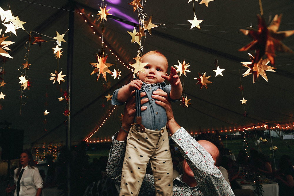 Baby reaching for the stars