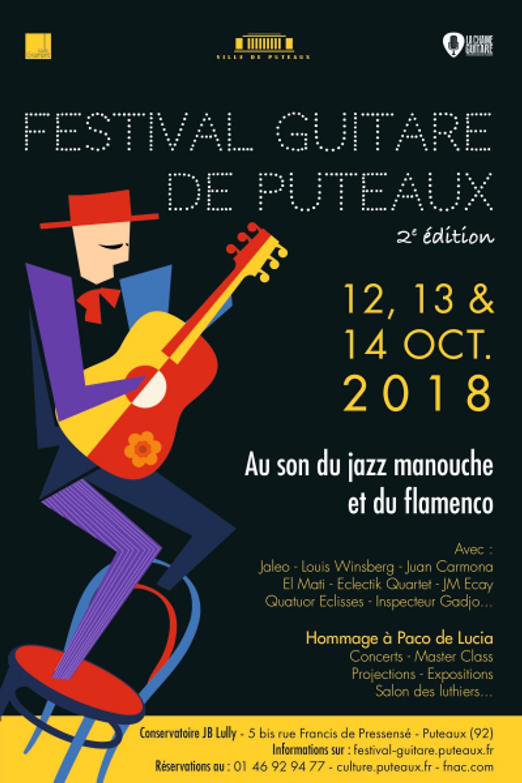 Affiche Festival Guitare Puteaux 2018