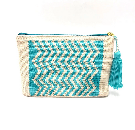 I LOVE SYRIA Clutch - Turquoise