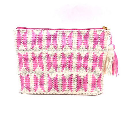 I LOVE SYRIA Clutch - Pink Butterfly