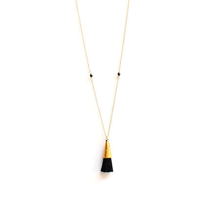 Tassel Necklace - Black