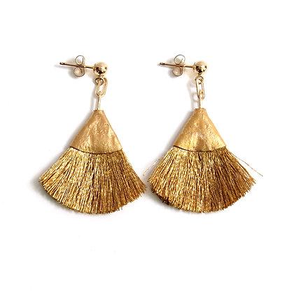 Josie Tassel Earrings - Gold