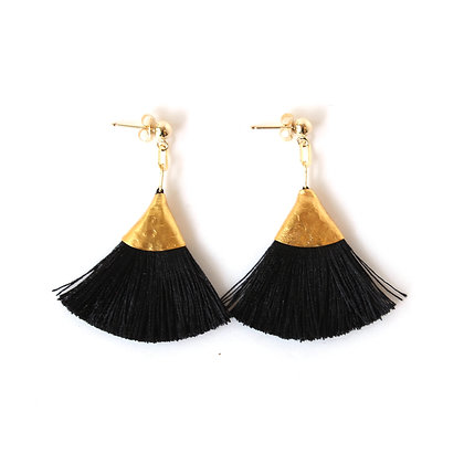 Josie Tassel Earrings - Black