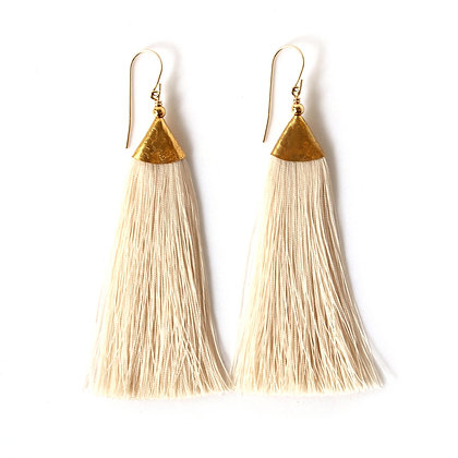 Mimi Tassel Earrings - Champagne