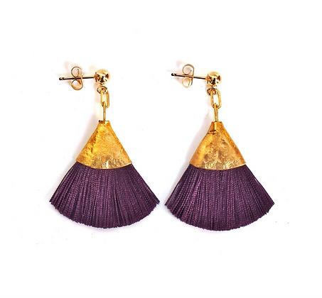 Josie Tassel Earrings - Mulberry