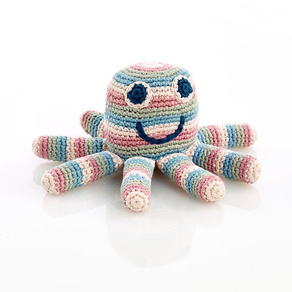 Petite pieuvre au crochet bio - Multi