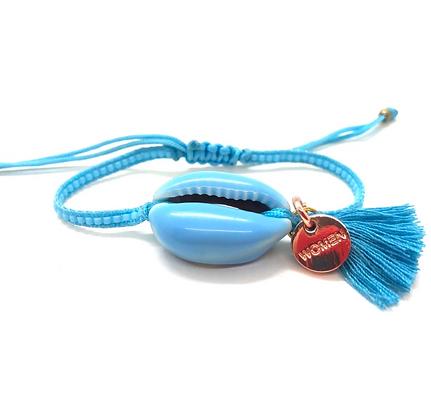I LOVE Syria - Enamel shell bracelet baby blue