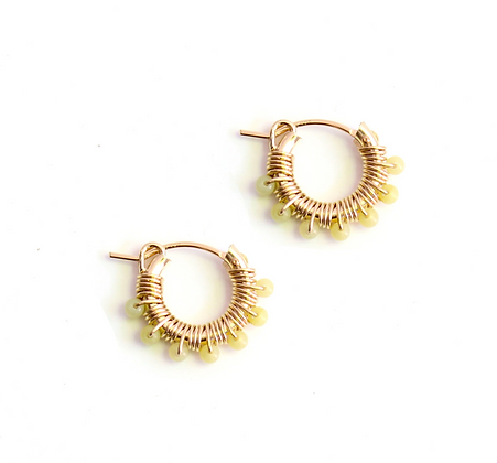 Gemstone Hoops 13 - Lemon Quartz