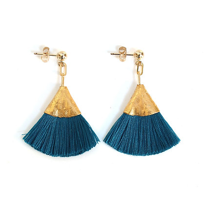 Josie Tassel Earrings - Teal