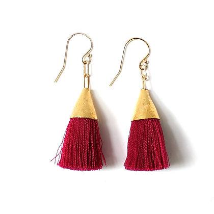 Kate Tassel Earrings - Red