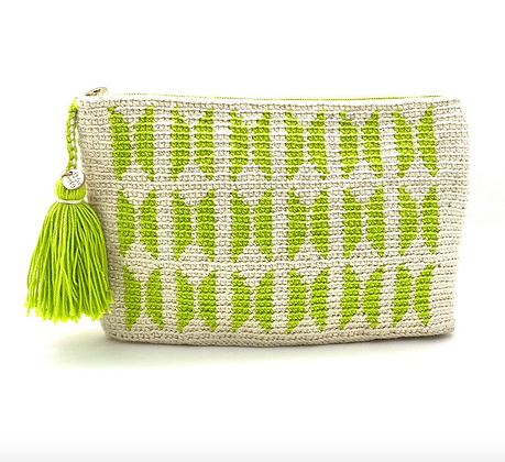I LOVE SYRIA Clutch - Lime green Butterfly