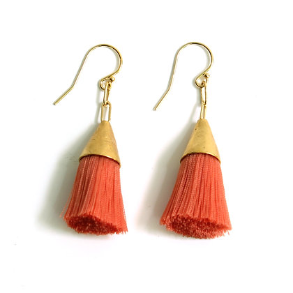 Kate Tassel Earrings - Coral