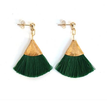 Josie Tassel Earrings - Pure Green