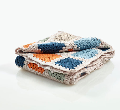 Couverture bio au crochet - Multi