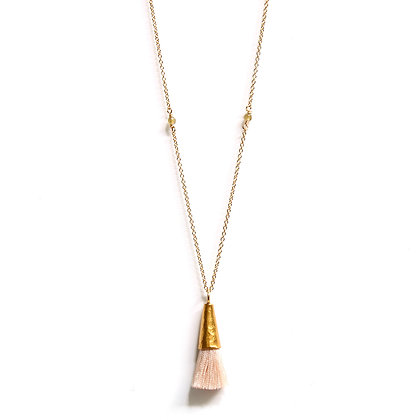Tassel Necklace - Champagne