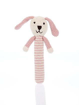Bunny Rattle - Pink