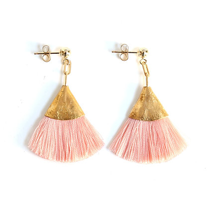 Josie Tassel Earrings - Coral Light Pink