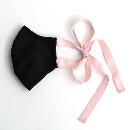 Face Mask - Black + Pink