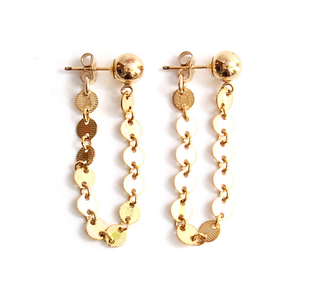 Gold Chain Earring Studs