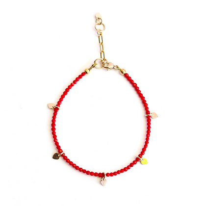 Gemstone Bracelet - Red Coral
