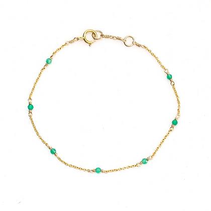 Dainty Gemstone Bracelet - Medium Jade