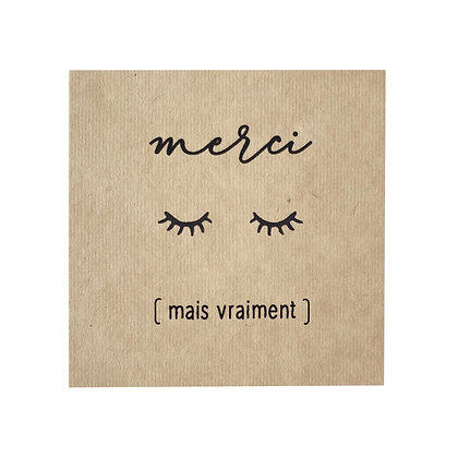Greeting Card - Merci